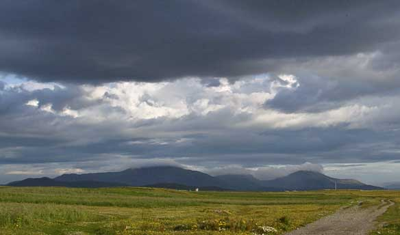Storm over Ardivachar machair