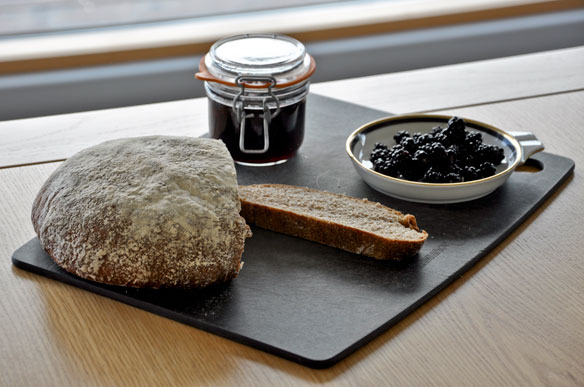 Blackerry jam and homemade bread in the croft kitchen