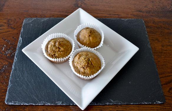 Courgette orange muffins