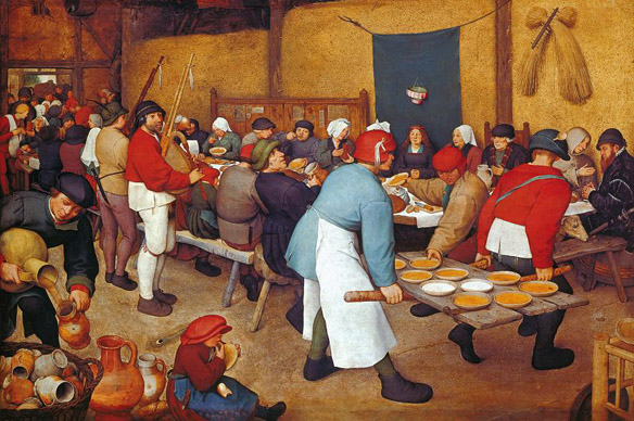 Pieter. Bruegel. the. Elder: Peasant. Wedding. Feast,. c. 1567