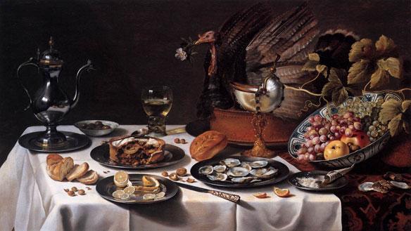 Still-life with Turkey-Pie CLAESZ, Pieter