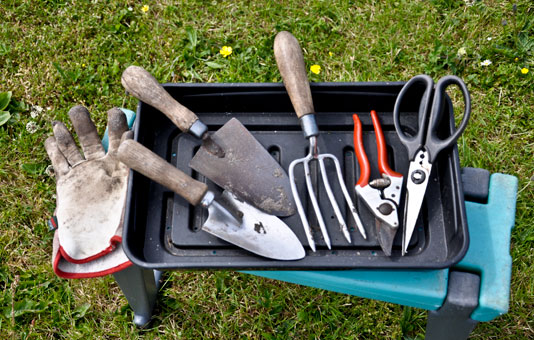 Garden maintenance tool kit