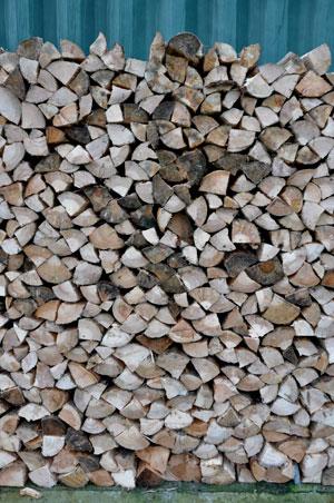 Croft Garden Cottage log stack