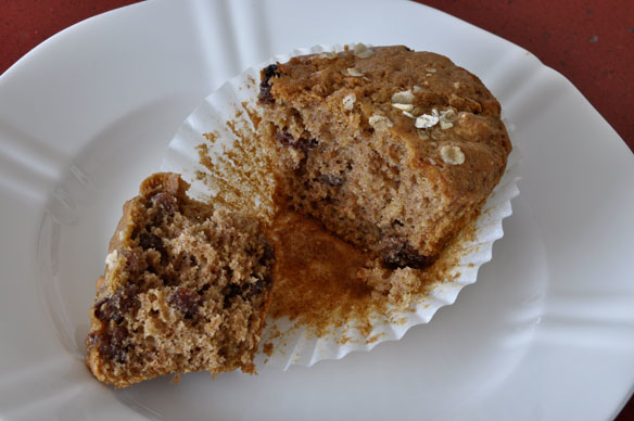 Cinnamon oat and raisin muffin