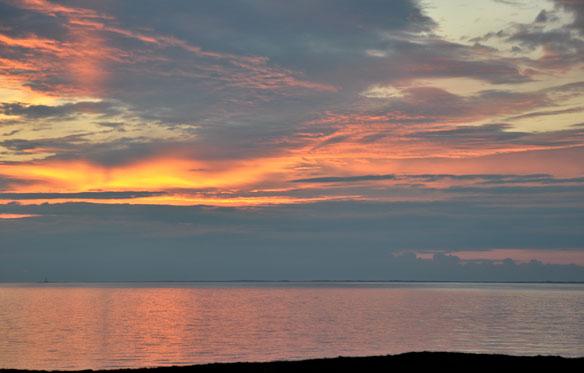 Sunset over the Monach Islands from Ardivachar
