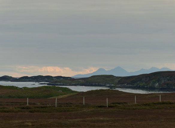 Lokking east towards Skye