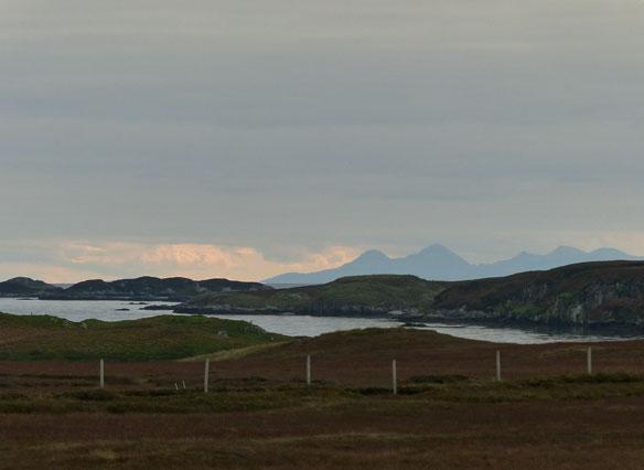 Lokking east towards Skye