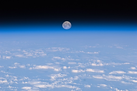 Moon image International Space Station