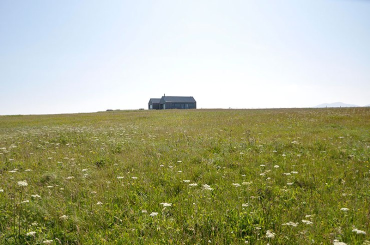 The wooden house on the headland